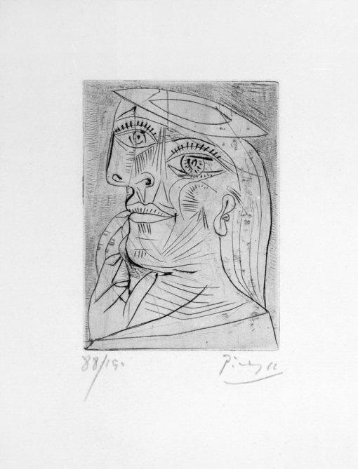 Pablo Picasso (1881 - 1973) - Tête de Femme, 1938