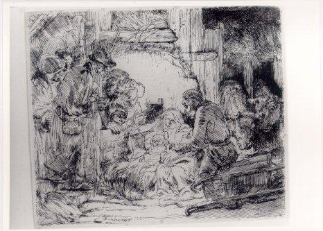 Rembrandt - Adoração dos pastores, c. 1654