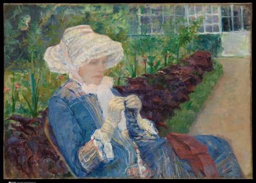 Mary Cassatt – Lydia Crocheting in the Garden at Marly, 1880