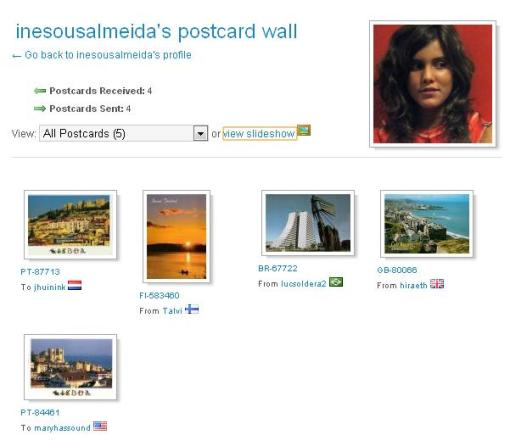 postcrossing-wall