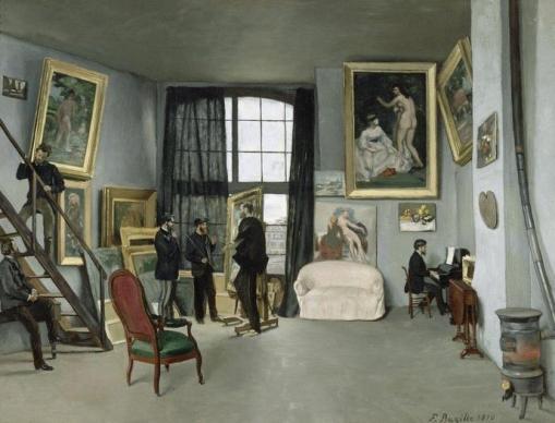 Frédéric Bazille (1841-1870), Edouard Manet (1832-1883) - Bazille's Studio, 1870