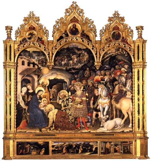 Gentile da Fabriano [c.1370-1427] - Adorazione dei Magi, 1423