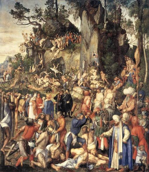 Albrecht Dürer - Massacre dos dez mil cristãos.