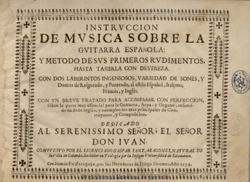 Instrucción de música sobre la guitarra española