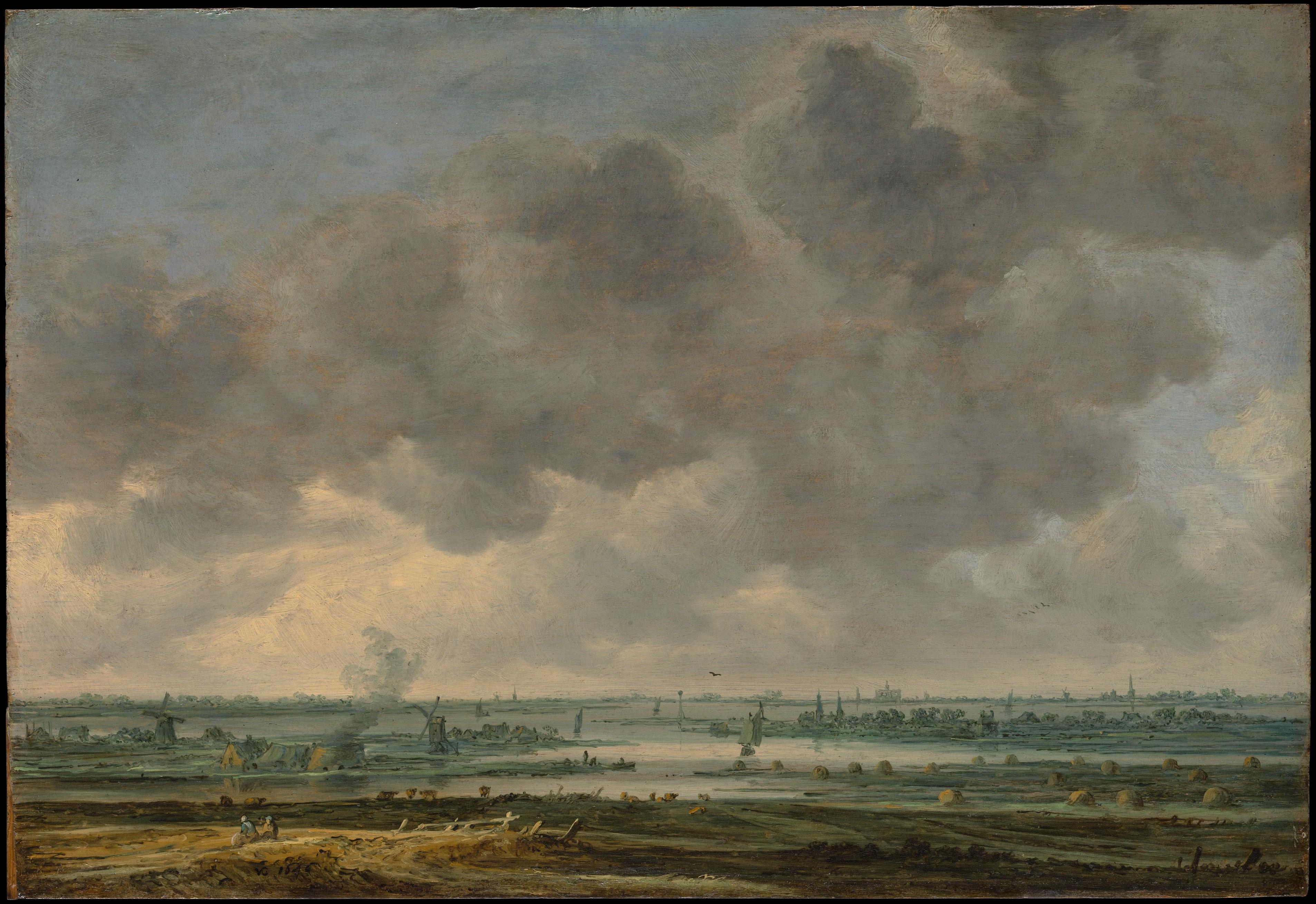 Jan Van Goyen - View of the Haarlemmermeer