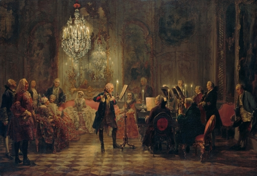 Adolph von Menzel - A Flute Concert of Frederick the Great at Sanssouci, 1852